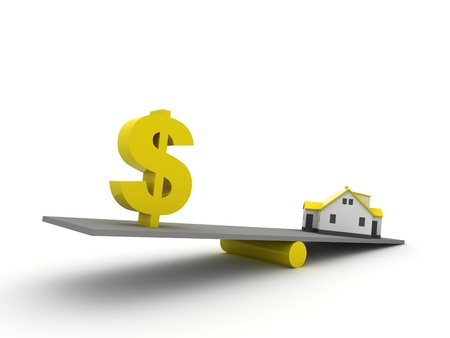 Real Estate Finance, yellow color Stock Photo