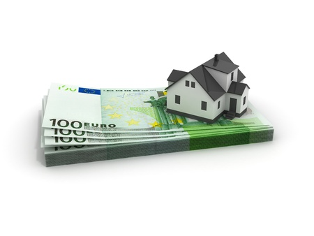 House Mortgage isolated on white photo