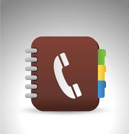 phone icon: address phone book icon