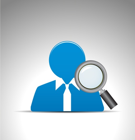 search for user icon Stock Vector - 12492792