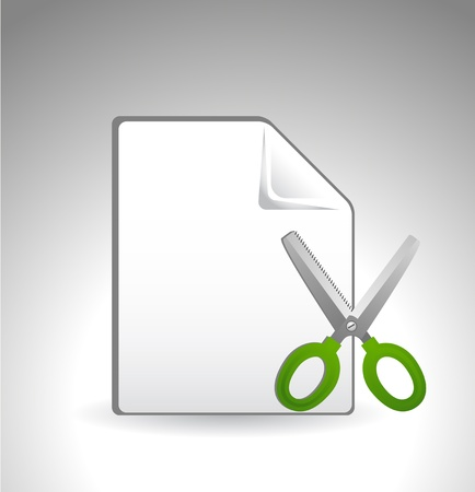 cut page or file icon Vector