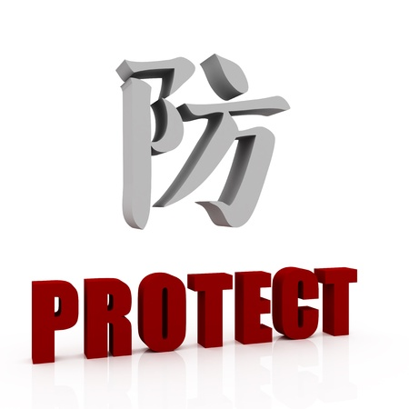 protect in Japanese photo