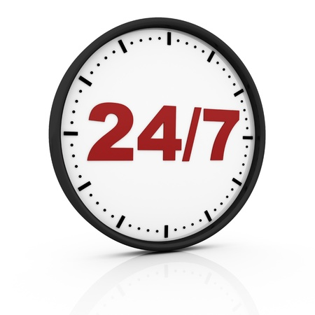 twenty four seven clock photo