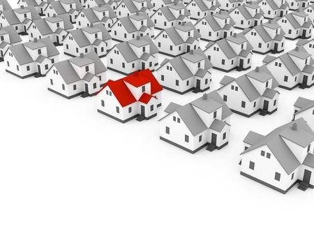 housing estates: concetto di real estate Archivio Fotografico