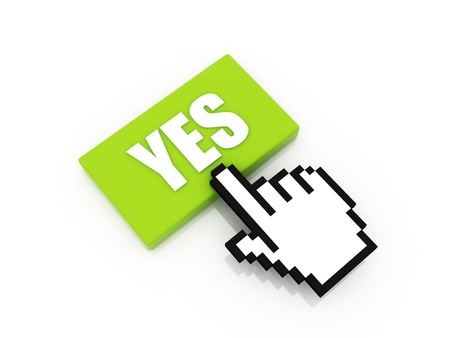 yes button concept Stock Photo - 12721378
