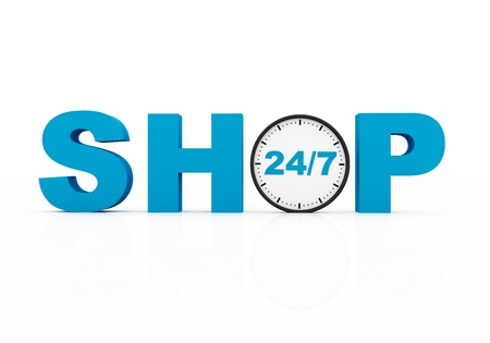 shop twenty four seven Stock Photo - 12721220