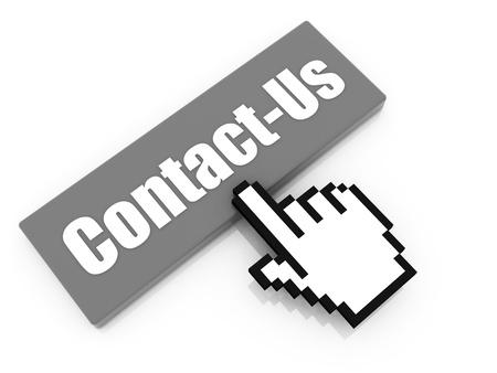 contact info: contattaci concetto pulsante