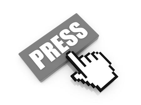 press button: press button concept