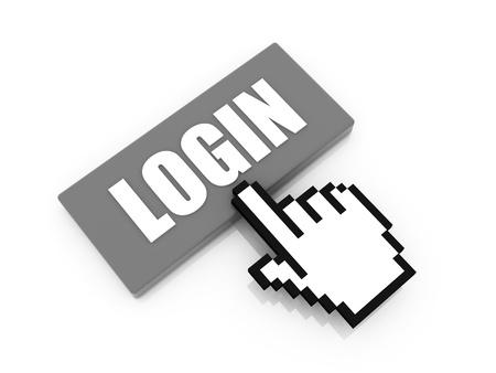 toegangscontrole: inloggen knop begrip