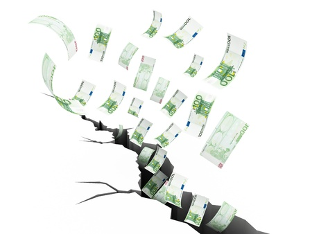 Financial Earthquake, 100 euro photo