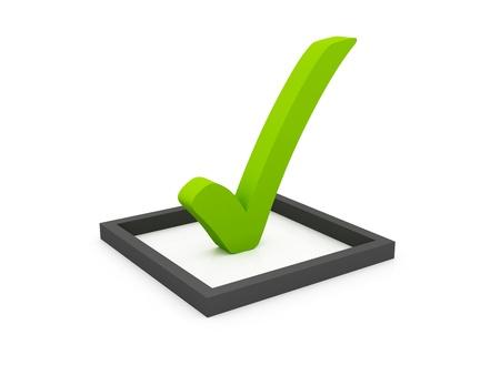 zecke: Checkliste Symbol isoliert auf wei�
