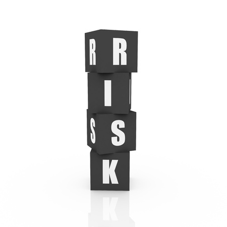 Risk Blocks, grey color isolated on white photo