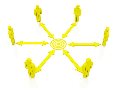 Teamwork Target concept Stock Photo - 12727249