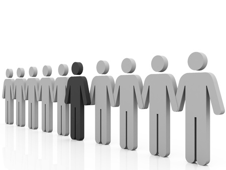 employment: Different person, grey color isolated on white