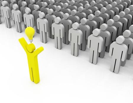 leading idea, people in a row photo