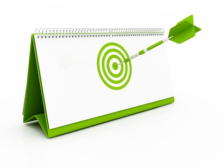 green Target Date Stock Photo - 12731150