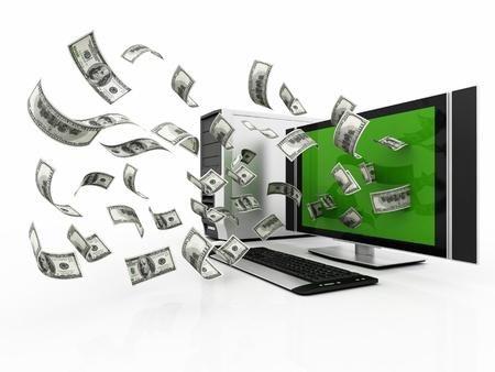 flying cash Stock Photo - 12731204
