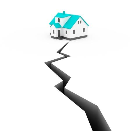 house Earthquake Concept photo