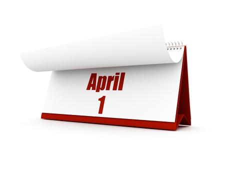 calendar, april day one Stock Photo - 12727610