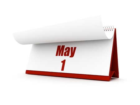 calendar, may day one Stock Photo - 12727607