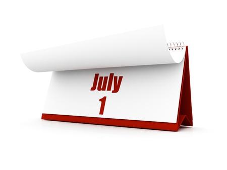 calendar, July day one Stock Photo - 12727602