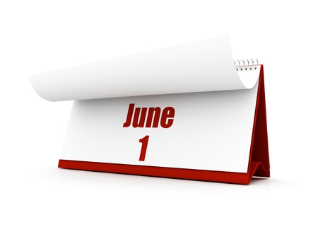 calendar, June day one Stock Photo - 12727608
