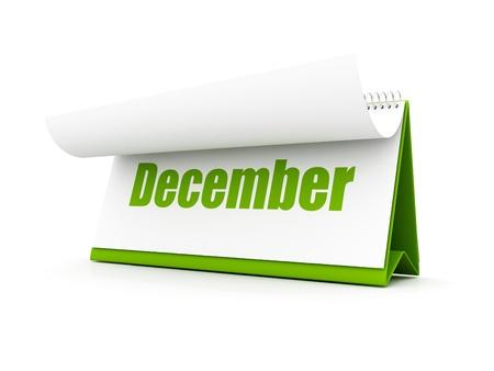 Green Calendar, December Stock Photo - 12727688