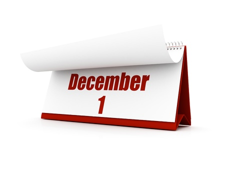 calendar, december day one Stock Photo - 12727670