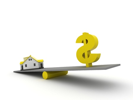 Real Estate Finance, yellow color photo
