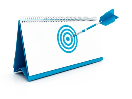 blue Target Date Stock Photo - 12902455