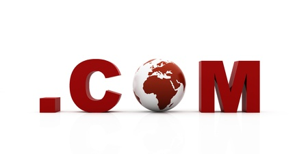 world  com, red color photo