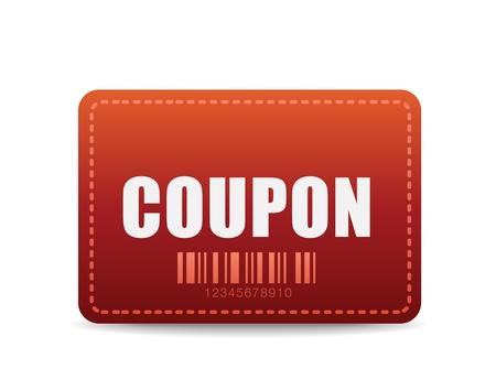 kerst markt: vector coupon-pictogram Stock Illustratie