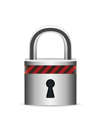forbidden to pass: vector lock icon