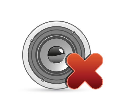 vector sound icon with silent symbol Vector
