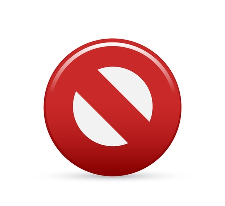 stop or remove icon Stock Vector - 13191596