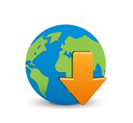 download icon, vector download icon Vector