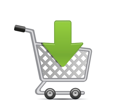 buy button: add to shopping cart icon Illustration