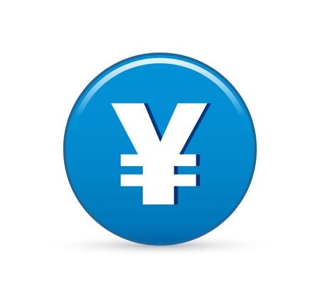 yen sign: Yen japon�s, yen vector icono de signo Vectores