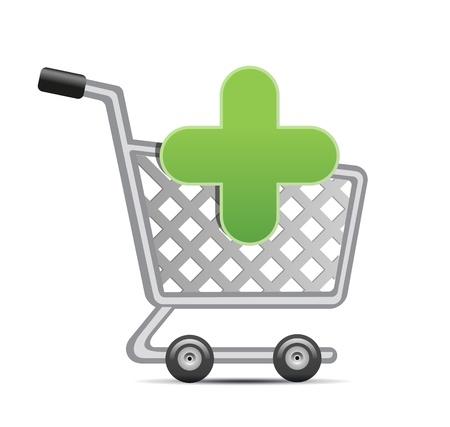 add to shopping cart, vector shopping cart sign icon Vector