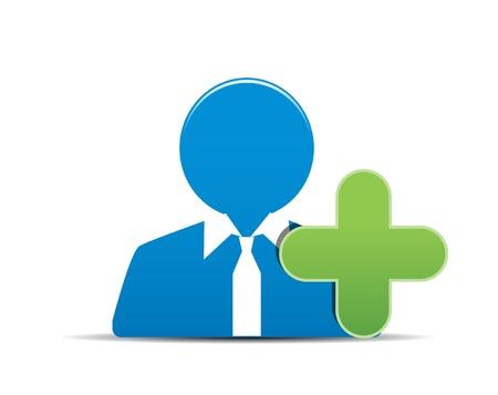 agregar: vector icono de usuario, a�adir un nuevo usuario