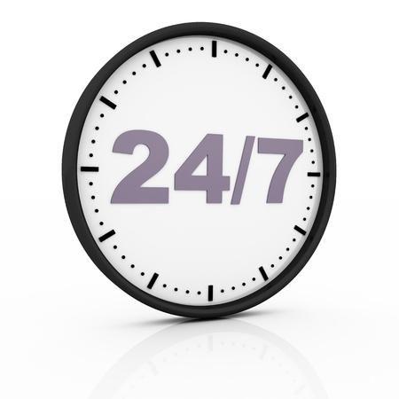 twenty four seven clock Stock Photo - 13261841