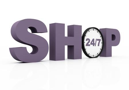 shop twenty four seven Stock Photo - 13261764
