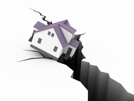 house Earthquake Concept Stock Photo - 13261771
