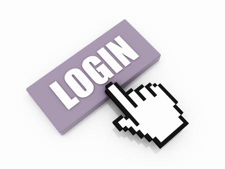 login button concept photo