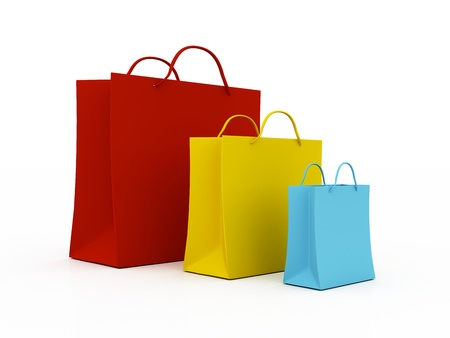 Shopping Bags isolated on white background photo