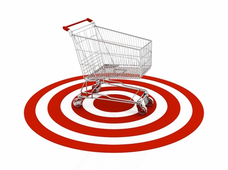 shopping carts: shopping cart with red target