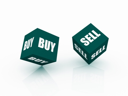 Financial Risk sell and buy Stock Photo - 13794650