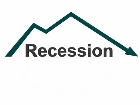 Graph crash. Recession word  Stock Photo - 13794691