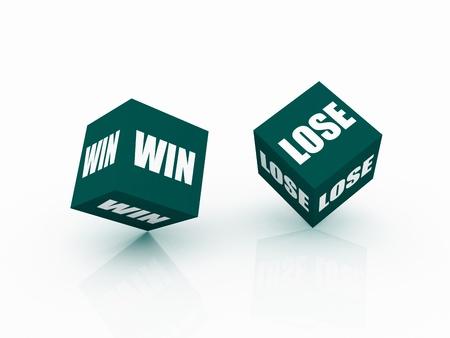 Risk Concept win and lose photo