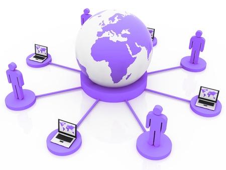 Global green Network Stock Photo - 13795038